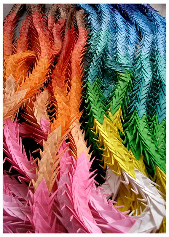 Senbazuru las mil grullas de origami for 1000 paper cranes wedding decoration